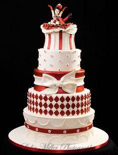 Can-Can Cake Clara's Designer Cakes - so many techniques Unique Cakes, Elegant Cakes, Creative Cakes, Gorgeous Cakes, Pretty Cakes, Amazing Cakes, Take The Cake, Love Cake, Fondant Cakes