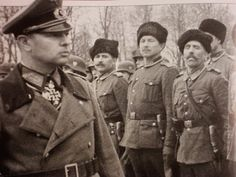 Nazi General Helmuth Pannwitz and his Cossack body guard regiment.