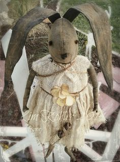 Hey, I found this really awesome Etsy listing at https://www.etsy.com/listing/215941550/primitive-bunny-rabbit-doll-ooak-hare