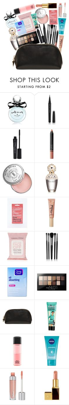 """""""what's in my makeup bag (random)"""" by yustiareedha ❤ liked on Polyvore featuring beauty, Kate Spade, Marc Jacobs, Smashbox, NARS Cosmetics, Bobbi Brown Cosmetics, Anatomicals, Too Faced Cosmetics, Topshop and Illamasqua"""
