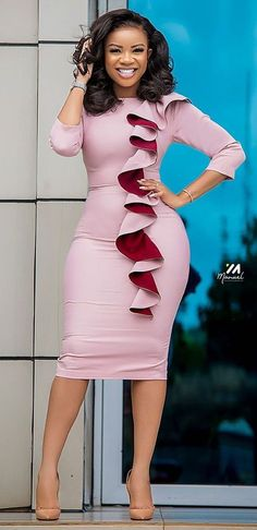 Short African Dresses, Latest African Fashion Dresses, African Print Fashion, Women's Fashion Dresses, Latest African Styles, African Clothes, Classy Work Outfits, Classy Dress, Corporate Attire