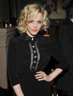 Rachel McAdams, love her dress & hair