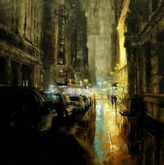 Kai Fine Art is an art website, shows painting and illustration works all over the world. Ville New York, City Painting, Photo D Art, Urban Landscape, Urban Art, Monet, Painting Inspiration, Amazing Art, Concept Art