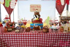 Boy's Cowboy Themed Baby Shower Party Dessert Table Ideas