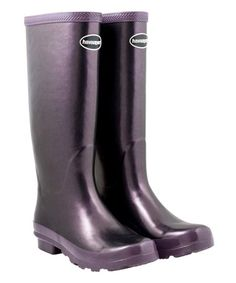 Take a look at this Aubergine Metallic Helios High Rain Boots - Women today!