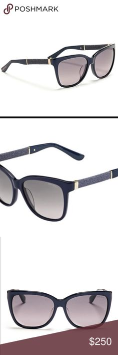 NEW JIMMY CHOO SUNGLASSES Original Jimmy Choo CORA/S Sunglasses. women's model , wayfarer shape, 2017 Jimmy Choo collection. acetate-rimmed glasses, blue/light grey shaded colour. All Otticanet Sunglasses are guaranteed and original. With Jimmy Choo eyewear collection you will have a classical or provocative look. The design is refined with shimmering and sophisticated details. You will have a touch of glamour and elegance in your everyday life. NO CASE BUT WILL SEND ONLY WITH MARC JACOBS…