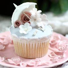 Parasol Cream Cake for Ninika - Cupcake, Sweet, Pink, Pink Cake, Cream Pink, Sweet Cake, Cream Cake, Sweet Cupcake, Pink Cupcake, Sweet Vintage