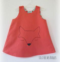 Robe hiver réversible renard et champignons mignons Lili Fée des Bulles : Mode…