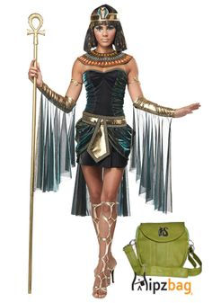 Cleopatra Costume for Halloween with the Green Hip Bag #hipzbag #women #fashion  http://www.hipzbag.com/