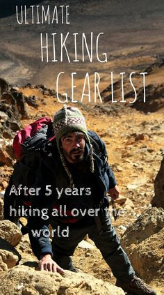 Ultimate hiking gear list for all your hikes all over the world!