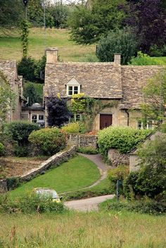Arlington Row in Bibury, Gloucestershire, England.