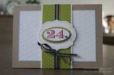 Quick birthday cards -- make multiples and customize with numbers.
