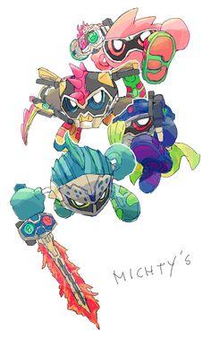 Kamen Rider Ex Aid, Kamen Rider Series, Mighty Action X, Hero Time, The Big Four, Emu, Dragon Art, Fantasy Girl, Rwby