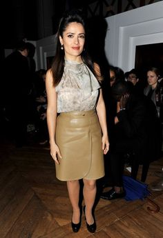 More Pics of Salma Hayek Pencil Skirt (5 of 6) - Pencil Skirt Lookbook - StyleBistro