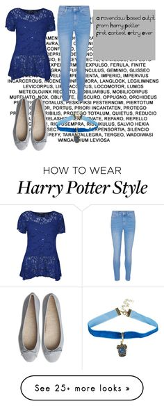 """""""Ravenclaw Outfit"""" by aidycat16 on Polyvore featuring WearAll and Warner Bros."""