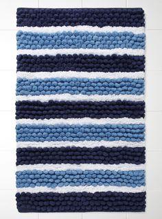 Bobble Stripe Bath Mat - patterned - bath mats - For The Home - BHS