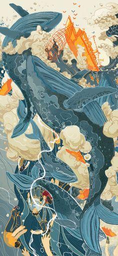 Japon Illustration, Environment Concept Art, Illustrations And Posters, Pretty Art, Aesthetic Art, Cool Artwork, Asian Art, Japanese Art, Art Inspo