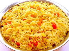 Yellow Rice Recipe This is a traditional South African recipe, which comes from the great culinary tradition of the Cape Malays -- originally brought in as slaves in the 17th century. It's easy and plain, but great with meats like venison, corned beef tongue or any meat with gravy. Also usually served with Bobotie: There is a good recipe by Caryn on this site.