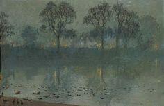 Yoshio Markino (1874-1956) - The Serpentine, London