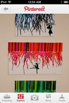 I love melted crayon crafts