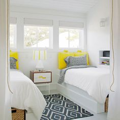 Kite Kilim Rug in a Beach House Bedroom by Rethink Design Studio