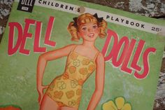 doll dell, dell doll, doll uncut, collect doll, vintage paper dolls