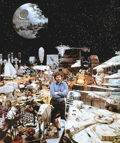 George Lucas on the set ofStar Wars: Episode VI - The Return of the Jedi(1983)