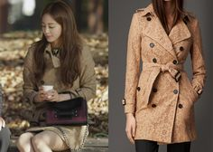 """Han Ye-Seul 한예슬 in """"Birth of a Beauty"""" Episode 3.  Burberry English Floral Lace Trench Coat #Kdrama #BirthOfABeauty 미녀의 탄생 #HanYeSeul"""