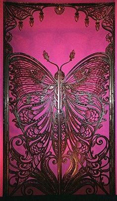ART NOUVEAU| Serafini Amelia| Beautiful-Art Nouveau Butterfly Entrance Door