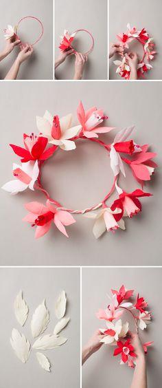 The House That Lars Built.: Valentine's paper flower wreath