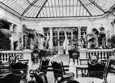 El Pequeño Jardín del Hotel Ritz hacia 1914- Pasión por Madrid: Los jardines de invierno del Ritz y del Palace