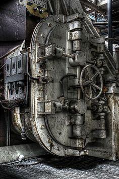 The big Door in Abandoned Factory