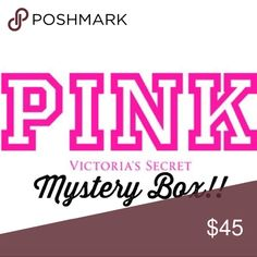 Victoria's Secret Mystery Box💞🍃💗✨ Comes with 5 VS items!  Ranges from XS-medium depending on what box you get!  Can contain shirts, sweatpants or vs purses!  Box is more valuable than asking price! PINK Victoria's Secret Tops