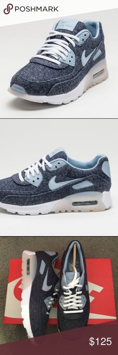 ✨✨{Nike} Air Max 90 Ultra PRM Women's size 8. Color: midnight navy/blue gray-white. Super cute as much as Roshe and go with any outfits. Good for running, training....Brand new in box, never been worn. Price is firm.   ❌ NO TRADES - SELLING ON POSH ONLY ❌ ❌ NO LOWBALLING ❌  ✅ Bundle Discounts ✅ Ship Next Day of Purchase   % AUTHENTIC Nike Shoes Sneakers