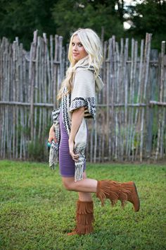 Indiana Adams of Adored Austin in her Minnetonka 3-Layer Fringe ...