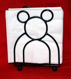 MICKEY MOUSE black napkin holder