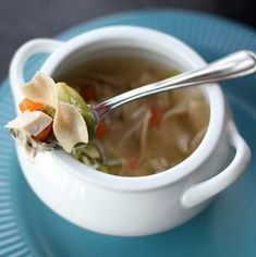 Cheater Chicken Soup - The Kitchen Magpie Hcg Diet Recipes, High Protein Recipes, Healthy Recipes, Soup Recipes, Turkey Soup From Carcass, Chicken Wild Rice Soup, Dukan Diet, High Calorie Meals, Instant Pot Dinner Recipes