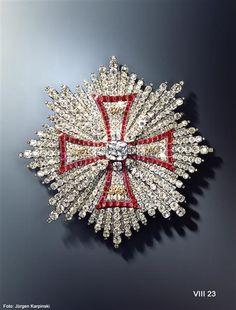Breast Star of the Polish White Eagle Order (Brillant garnish) Pallard, Jean Jacques (1701-1776) | Goldsmith Geneva / Vienna, 1746-1749. Material and Technology Diamonds, rubies, gold, silver