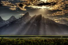 Sunburst over Grand Tetons by Royce Bair on 500px