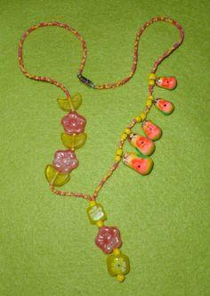 Citrus Delight Russian Doll Necklace