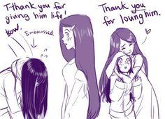 Awww Hinata & Kushina