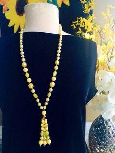 Vintage 29 Tassel Necklace: Canary Yellow / by FelixVintageMarket