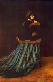 Monet's 1866 Camille or The Woman in the Green Dress (La Femme à la Robe Verte), which brought him recognition, depicted Camille Doncieux. S...