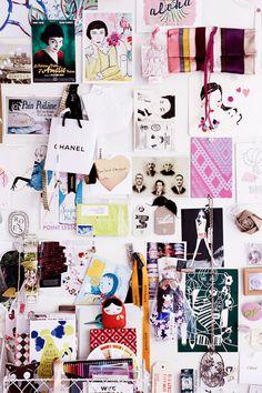 decocrush.fr : Le moodboard de Natalie, créatrice des cosmétiques Bloom   Photos Sean Fennessy
