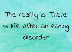 I'm a creature of habit: Eating Disorder Edition