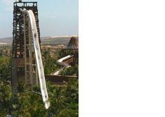 """If you like water slides you will love """"Insano"""", the world's tallest water slide located in the Beach Park in Fortaleza, Ceará. The Insano is a 41 met Oh The Places You'll Go, Places To Travel, Places To Visit, Beach Park Fortaleza, Dream Vacations, Vacation Spots, Cool Water Slides, Wild Waters, Thinking Day"""