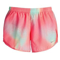 Nike 'Modern Tempo' Print Dri-FIT Shorts ($45) ❤ liked on Polyvore featuring shorts, nike, workout and bottoms