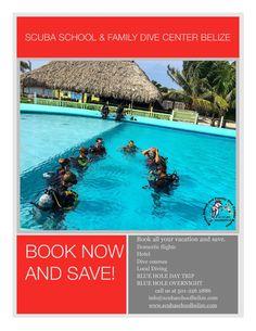 Book now for savings! #Belize #scubaschoolbelize #padi #bluehole #scubadiving #ambergriscaye #YouCanDoItLiam #tour