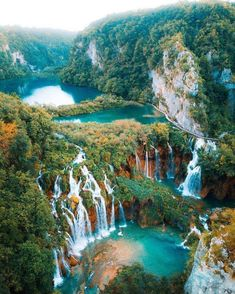Plitvice Lakes has too many waterfalls to count! 💦 What a magical place 😍 Plitvice Lakes National Park, Croatia. Jotunheimen National Park, Plitvice Lakes National Park, Beautiful Places To Travel, Wonderful Places, Cool Places To Visit, Beautiful Waterfalls, Beautiful Landscapes, Bali Waterfalls, Nature Photography