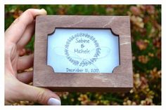 Your place to buy and sell all things handmade Personalised Wooden Box, Personalized Rings, Personalized Wedding, Wedding Ring Box, Wedding Boxes, Ring Bearer Box, Wooden Boxes, Save The Date, Alternative